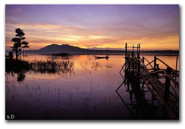 Hồ EaKao. Ảnh: Kem Đá