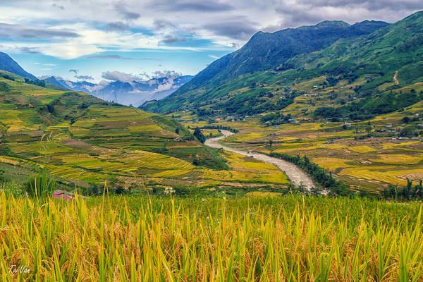 """Thung lũng Mường Hoa: Nằm cách thị trấn SaPa 10km về phía Đông Nam, Mường Hoa là điểm đến hấp dẫn thu hút những bước chân lãng du đến với miền sơn cước. Thật không mấy khó khăn để nhận ra Mường Hoa, vượt qua một con đèo men theo dãy núi, du khách sẽ bị """"hút hồn"""" ngay bởi nét hữu tình của cảnh đất trời hội tụ tại đây. Ảnh: Black Baron93"""