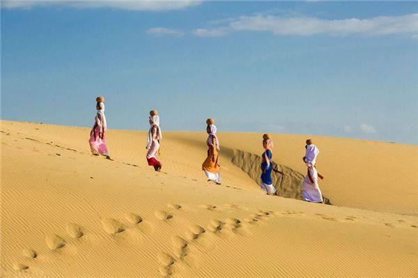 Đồi cát ở Phan Rang.