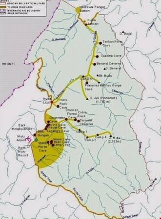 Vườn quốc gia Gunung Mulu nằm ở Sarawak, giáp với biên giới Brunes. Ảnh: wonderfulmalaysia.