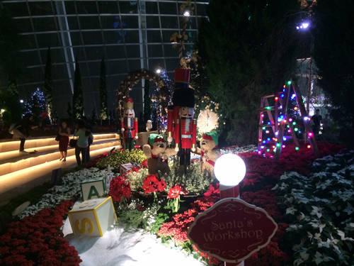 Khu vườn cổ tích trong Ngôi nhà hoa ở Flower Dome.