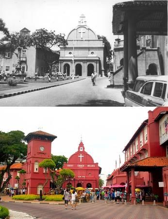 Quảng trường Hà Lan là địa điểm nổi tiếng bậc nhất ở thành phố cổ Malacca với những công trình có màu đỏ đặc trưng. Tất cả dường như không thay đổi sau nhiều năm, đặc biệt là nhà thờ Chúa Jesus.