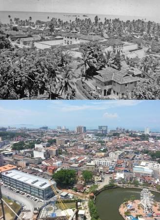 Malacca là điển hình cho sự tồn tại song song giữa các kiến trúc hiện đại với các tòa nhà cao tầng và cổ kính của những ngôi nhà mái đỏ. Sự phát triển nhanh chóng của thành phố cổ cũng được thấy rõ khi du khách ngắm Malacca từ trên cao.