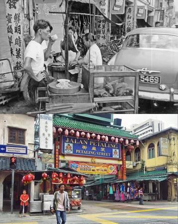 Đường Petaling ở khu phố Tàu, Kuala Lumpur nổi tiếng với các nhà hàng, quầy ẩm thực bán món địa phương. Tuy nhiên, du khách hãy nhớ mặc cả khi mua đồ tại đây.