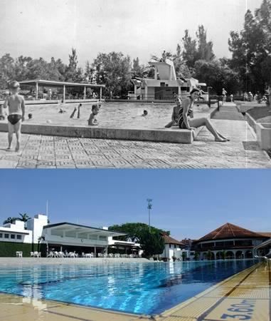 Bể bơi trong câu lạc bộ Golf Selangor được mở rộng khang trang và sạch đẹp hơn.