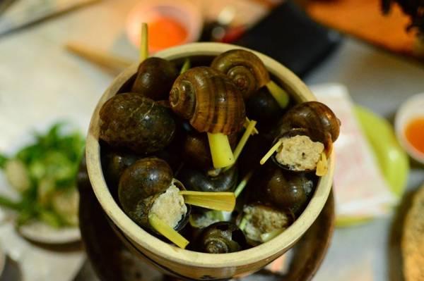 Ốc bưu nhồi thịt rất nổi tiếng với người Đà Lạt, đặc biệt là quán 33 đường Hai Bà Trưng Ảnh: wn.com.vn