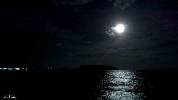Những đêm trăng sáng, bạn có thể ra bến tàu hoặc bãi Cỏ để ngắm trăng soi trên biển, nghe sóng vỗ, gió thổi vi vu vô cùng lãng mạn.