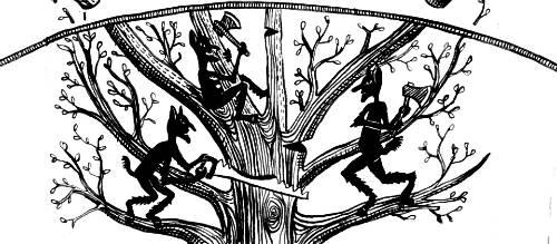 Kallikantzaroi (Hy Lạp) là từ để chỉ những con yêu tinh chuyên sống dưới lòng đất. 12 ngày trước Giáng sinh, chúng sẽ chui lên để quấy phá loài người. Bất kỳ đứa trẻ nào sinh ra trong thời gian này sẽ bị cho là được an bài để trở thành một Kallikantzaroi. Người Hy Lạp cũng tin rằng dưới lòng đất tồn tại một cái cây của ác quỷ Kallikantzaroi chuyên dùng để kéo con người xuống thế giới của chúng. Vì thế, trước đêm Giáng sinh, nhiều gia đình sẽ treo hàm răng lợn trong ống khói để ngăn không cho ác quỷ vào nhà. Ảnh: Complex.