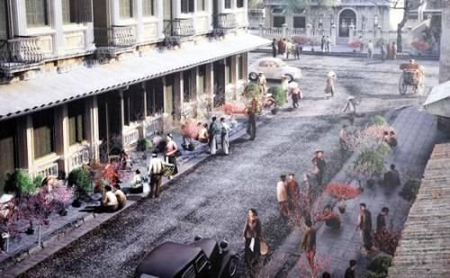 Ảnh 3D tái hiện Chợ hoa Tết Hà Nội xưa trong chương trình ''Ký ức Hà Nội''.