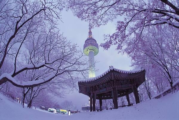 Tháp Namsan (N Seoul Tower) được xây dựng vào năm 1969 như là tháp truyền hình và đài phát thanh đầu tiên của Hàn Quốc. Bắt đầu từ khi mở cửa cho công chúng vào năm 1980, tháp đã trở thành một điểm tham quan rất thu hút đối với người dân Hàn lẫn khách du lịch. Ảnh: gajakorea.wordpress.com