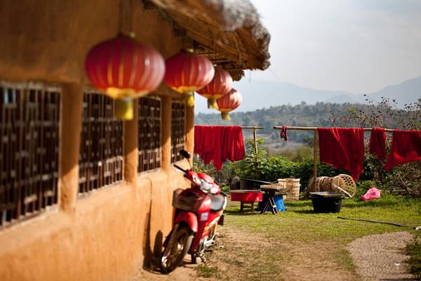 Một ngôi nhà theo phong cách Trung Quốc ở Pai. Ảnh: Kristina Afanasyeva