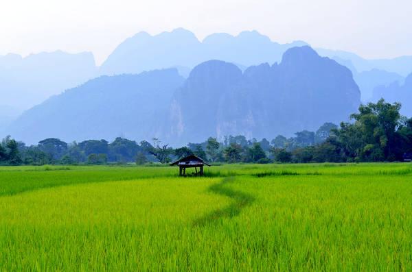 Ngay khi vừa đặt chân tới Vang Vieng, nhiều người thường ngỡ ngàng trước vẻ đẹp mà thiên nhiên đã ban tặng cho thị trấn nhỏ bé này. Ảnh: David Gunis