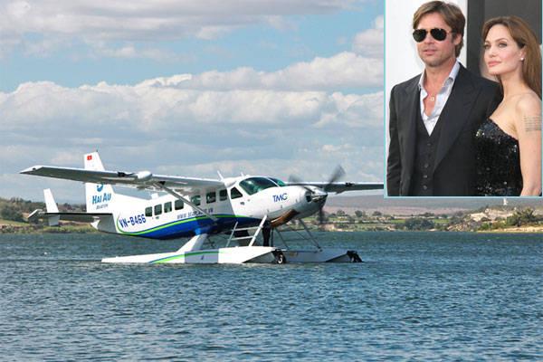 Jolie-Pitt tới Hạ Long bằng thủy phi cơ.