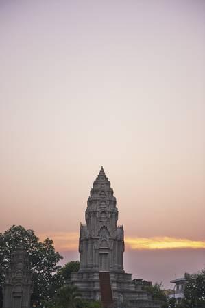 Một ngôi đền vào lúc hoàng hôn.