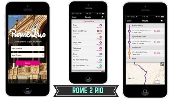 9. Sử dụng ứng dụng Rome 2 Rio. Ứng dụng này cung cấp cho bạn tất tần tật những phương tiện từ công cộng đến cá nhân ở bất cứ nơi đâu trên thế giới, từ đó bạn có thể lựa chọn phương tiện nào phù hợp và rẻ nhất. (Ảnh minh họa - Nguồn: Internet)