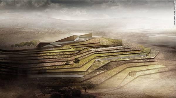 Bảo tàng Palestinian (Palestine): Bảo tàng Palestinian nằm trên một ngọn đồi bậc thang nằm ở Bờ Tây (West Bank), vùng lãnh thổ nằm kín trong lục địa tại Trung Đông, thuộc lãnh thổ Palestine, phía bắc Jerusalem. Dự tính sẽ mở cửa vào 15/5/2016, với diện tích gần 40.000 m<sup>2</sup>, bảo tàng là công trình lớn nhất dành riêng cho các hoạt động trưng bày, bảo tồn văn hóa và nghệ thuật của người Palestine.