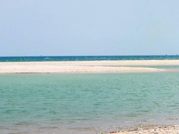 Biển Suối Ồ là một trong những nơi hiếm hoi ở Việt Nam vừa có suối nước ngọt và bãi biển nước mặn. Ảnh: ST