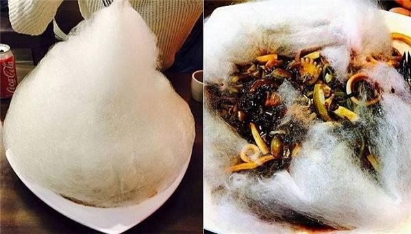 Mì tương đen kẹo bông - sự kết hợp mới lạ khiến giới trẻ Hàn Quốc phát sốt. (Ảnh: Instagram)