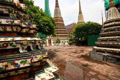 Một góc ngôi đền Wat Pho.