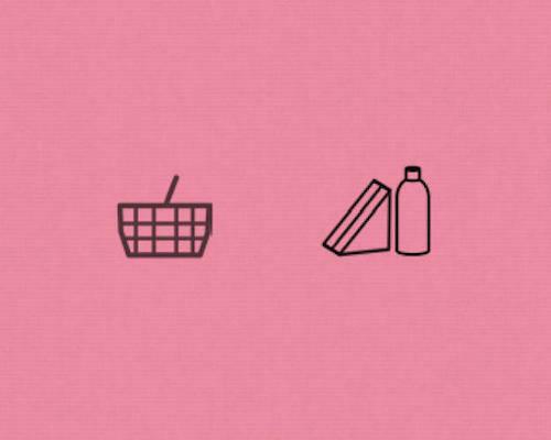 Biểu tượng cửa hàng tiện lợi cũ (trái) và mới (phải). Ảnh: Fastcodesign.