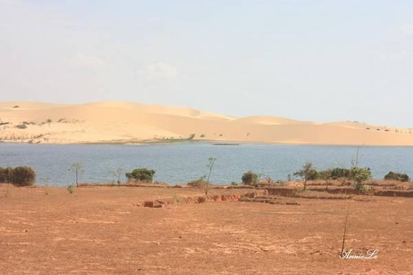 Ngay bên cạnh Bàu Bà là đồi cát Trinh Nữ, nổi tiếng với những dải cát mịn, cát trắng, uốn cong như những đường nét mềm mại của người thiếu nữ.