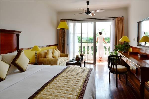 Khu nghỉ dưỡng có nhiều loại phòng nghỉ khác nhau, phù hợp với đừng đối tượng du khách. Ảnh: iVIVU.com