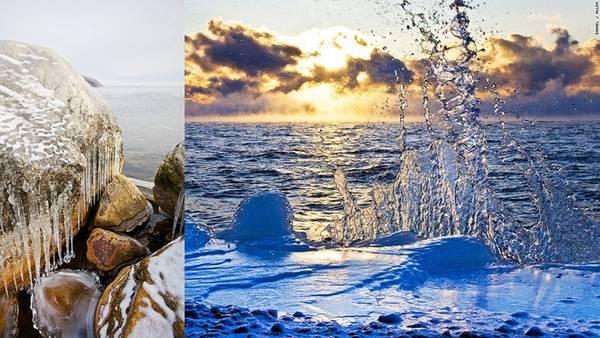 Miền đất thần tiên bị đóng băng: Hồ Baikal được bao bọc bởi băng đá khoảng 4 - 5 tháng mỗi năm. Lớp băng đá này dày và cứng tới mức người dân sống ở đây có thể sử dụng như đường cao tốc. Băng bắt đầu tan từ phía nam hồ vào tháng 4 và tới phía bắc hồ vào đầu tháng 6.