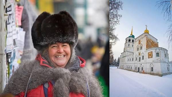 """Cách đi tới hồ Baikal: Mọi người thường gọi Irkutsk là """"thủ phủ của miền Đông Siberia"""", nơi đây sở hữu nhiều nhà thờ có kiến trúc đẹp mắt (nhà thờ Spasskaya ảnh phải) theo kiểu tân cổ điển và các quán cà phê ấm cúng. Ngoài ra, Irkutsk cũng có vô số công ty du lịch tổ chức tour tham quan hồ Baikal."""