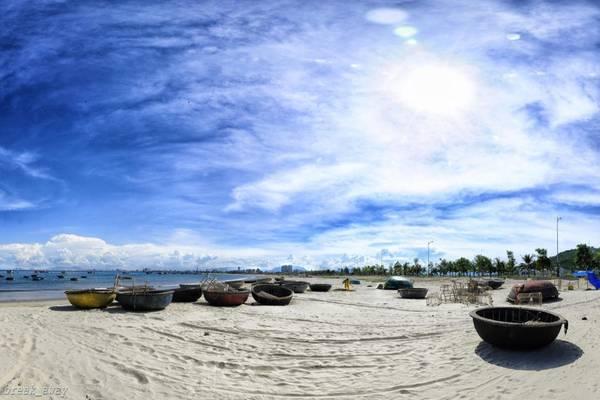 Một góc bãi biển Mỹ Khê, Đà Nẵng.Ảnh: Quang Vu