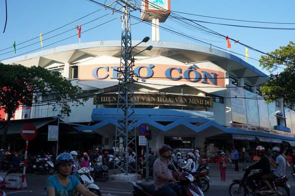 Chợ Cồn là khu mua bán lớn nhất TP. Đà Nẵng và khu vực miền Trung. Ảnh:dananghoian.com