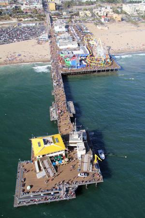 Khu vực cầu cảng Santa Monica nhìn từ trên cao - Ảnh: wiki