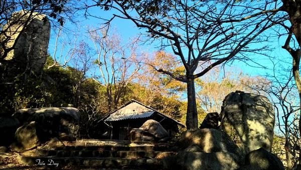 Chùa trước đây là một am nhỏ do bà Tư trông nom. Năm 1987, Đại đức Thích Thông Luận về sửa chữa ngôi chùa và tu hành ở đây. Sau này, Giáo hội Phật Giáo Việt Nam đặt tên cho ngôi chùa này là Thiền viện Trúc Lâm Chân Nguyên. Ảnh: Tiểu Duy