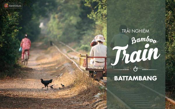"""Tàu mảng tre chính là một """"đặc sản"""" vô cùng thú vị ở Battambang (Campuchia). Đó là phương tiện di chuyển chính của cả vùng này vì vừa nhanh lại rẻ tiền. Bạn cứ tưởng tượng, thay vì đi tàu lửa thì người ta đi tàu tre. Và một tour thế này mất khoảng 8 đô (tương đương hơn 160k tiền Việt). Những ai mê mạo hiểm và hòa mình với thiên nhiên thì nên đi thử loại tàu này."""