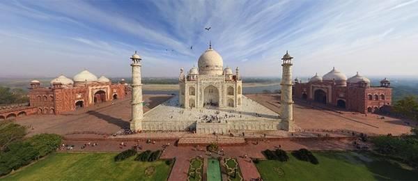 Taj Mahal đạt sự cân xứng hoàn hảo. Ảnh: Airpano.