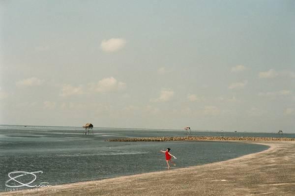 Description: Bãi biển trải dài bất tận. Ảnh: Quân