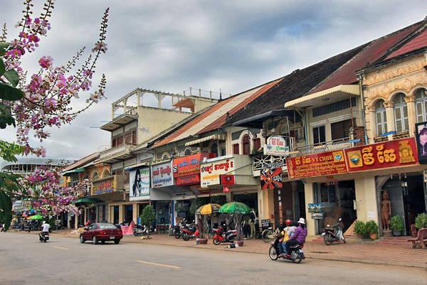 Đường phố Battambang. Ảnh: ST