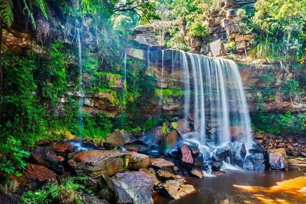 Một thác nước xinh đẹp ởBokor.Ảnh: asiatrips.travel