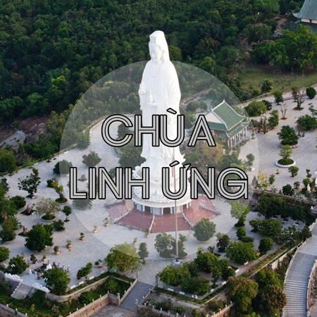 Tượng Phật Bà 67m cao nhất Việt Nam trong khuôn viên chùa Linh Ứng. Ảnh: Phuongdong