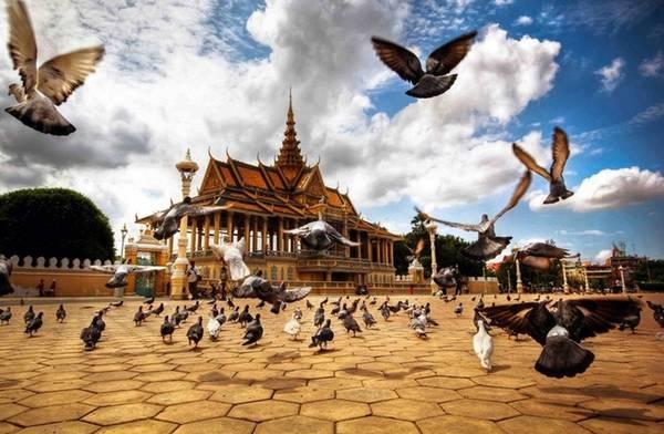 Cung điện Hoàng gia Campuchia là một trong những địa điểm tham quan mà du khách không thể bỏ qua khi đến Phnom Penh. Ảnh: ST