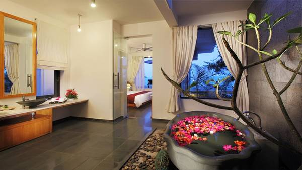 Nội thất của khu nghỉ dưỡng được sắp xếp một cách tinh tế.