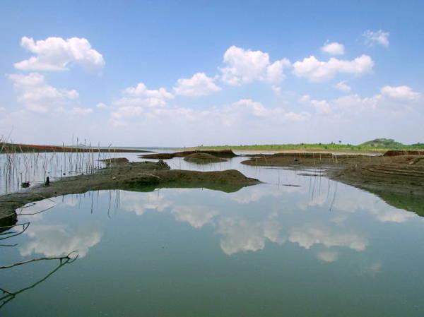 Description: Hồ Sông Ray nhìn từ bờ hồ phía đông bắc thuộc xã Hòa Hưng, huyện Xuyên Mộc - Ảnh: Nguyễn Thiên Đăng
