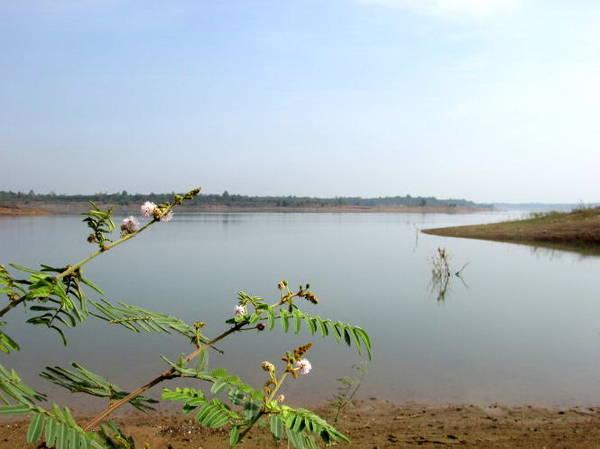Description: Một góc hồ Sông Ray nhìn từ bờ hồ phía tây nam thuộc xã Xuân Sơn, huyện Châu Đức - Ảnh: Nguyễn Thiên Đăng