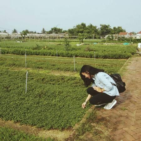 Description: Không gian xanh mát của làng rau sẽ là nơi giúp bạn lưu lại nhiều bức hình đẹp. Ảnh: n_quynhhh/instagram