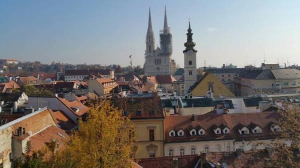 Một góc Zagreb nhìn từ trên cao - Ảnh: Phong Nguyễn Lê