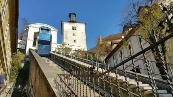 Đường sắt leo núi cổ xưa là một trong những đường sắt lâu đời nhất có dây kéo vẫn đang hoạt động trên thế giới đã bắt đầu vào năm 1893 ở Zagreb - Ảnh: Phong Nguyễn Lê