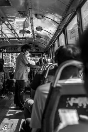 Một tuyến xe buýt công cộng ở Bangkok.