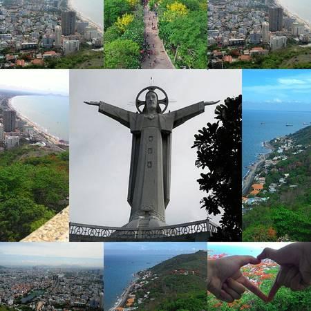 Tượng Chúa Kitô được xem như là một biểu tượng của thành phố Vũng Tàu. Ảnh: pennyvan1112