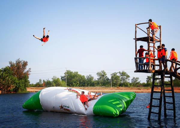 Khu du lịch Bò Cạp Vàng là nơi có rất nhiều trò chơi vận động thú vị.Ảnh:bocapvang.com.vn