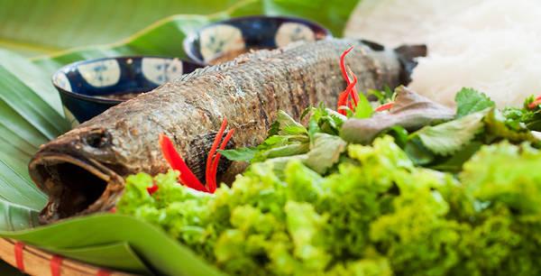 Món cá lóc nướng trui dân dã.