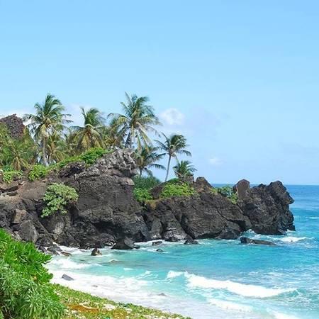 Đảo bé được đánh giá là đảo có bãi biển đẹp và hoang sơ nhất tại Lý Sơn. Ảnh:daolyson